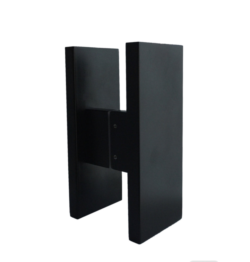 JD240-Matt Black Rectangle Door Pulls (Pair) 240mm