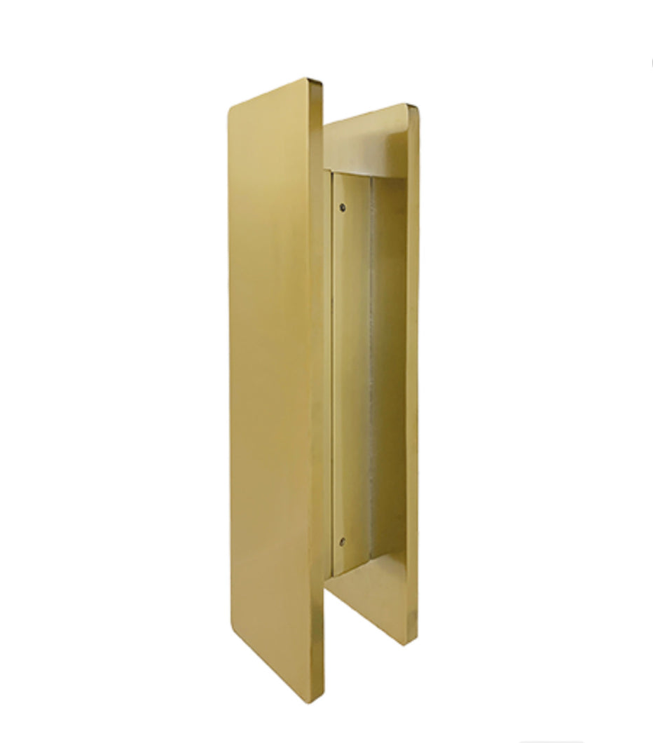 JD4SB- brushed Brass Entry Door Pulls (Pair)