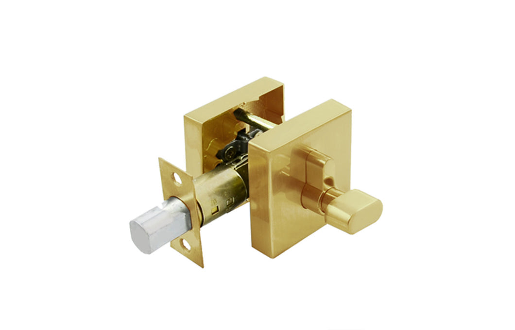 Brushed Brass Single Cylinder Deadbolt