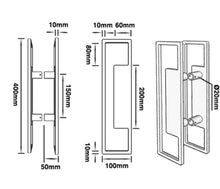 Load image into Gallery viewer, 400mm JD5-Matt Black Entry Door Pulls (Pair)