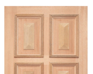 JDQ 8 Panel Solid with Raised Bats 2340 x 1200 Door package