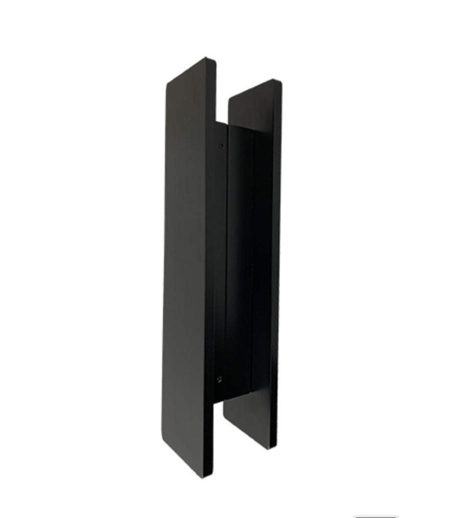 JD3S-400mm x 100mm Matt Black Entry Door Pulls (Pair)