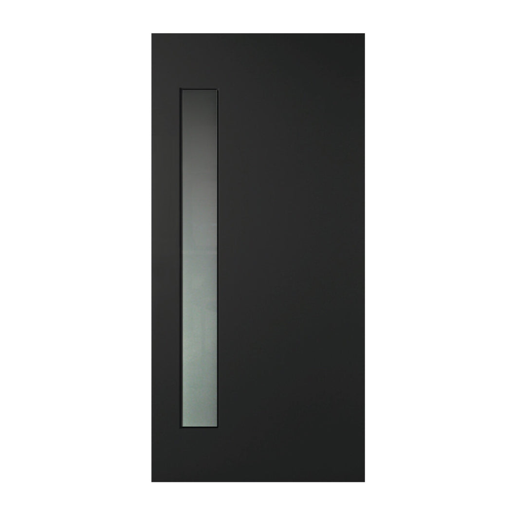 BLACK 1 lite 820 x 2040 Fibreglass Entrance door INSTALLED
