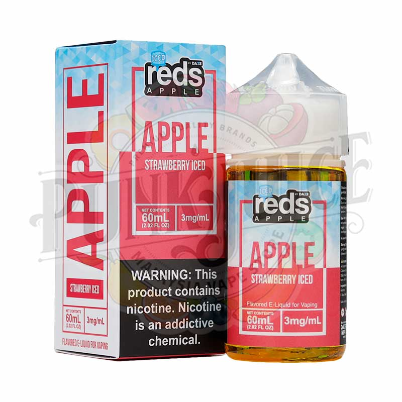 7 Daze - Apple Strawberry Iced - 60ml box and bottle