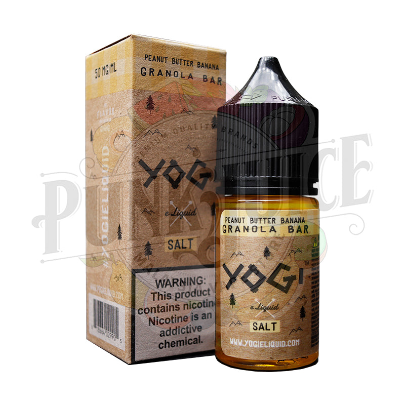 Peanut Butter Banana Granola Bar Salt by Yogi E-liquid-Punk Juice Vape Store