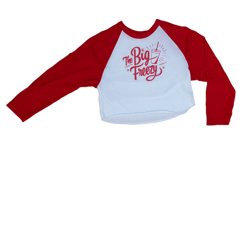 The Big Freezy Ladies' Cropped Baseball Tee