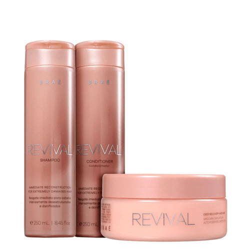 Braé Revival Shampoo, Conditioner and Mask Home Care Kit