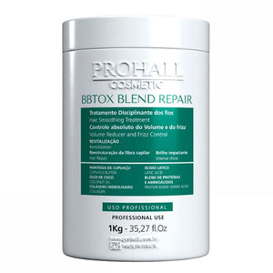 Prohall BBTOX Blend Repair Hair Smoothing Organic Treatment 1kg/35.2fl.oz
