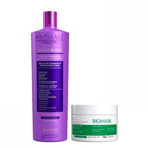 Prohall Kit Select Blond & Biomask Hydration for Damaged Hair