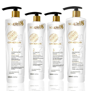 Kit de Souple Liss Crhonus Programa de tratamiento 4x500ml / 4x16.9fl.oz