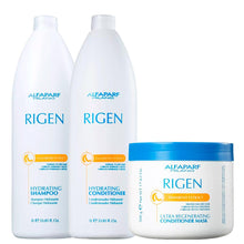 Laden Sie das Bild in den Galerie-Viewer, Alfaparf Rigen Kit Hydrating Hair Fragile Daily Care
