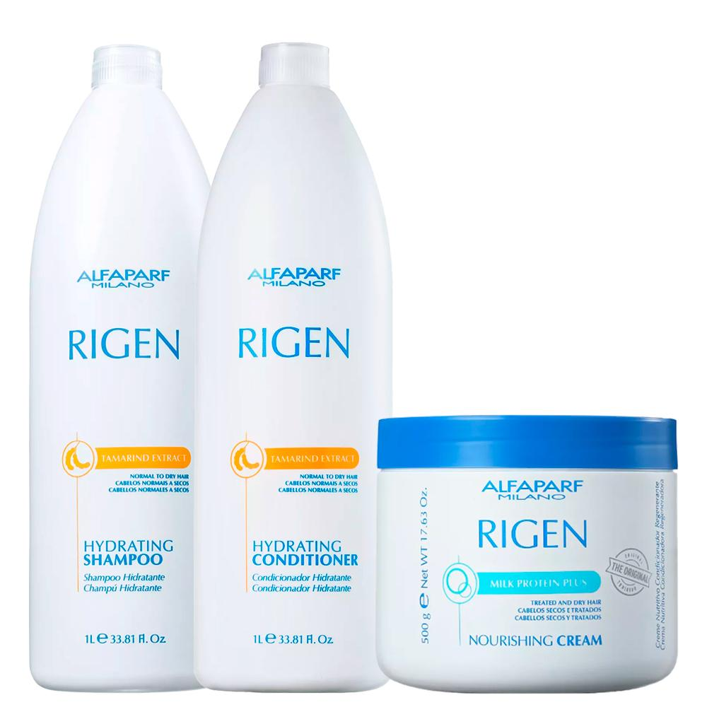 Alfaparf Rigen Kit Hydration Powder Chemistry الشعر الجاف والضعيف