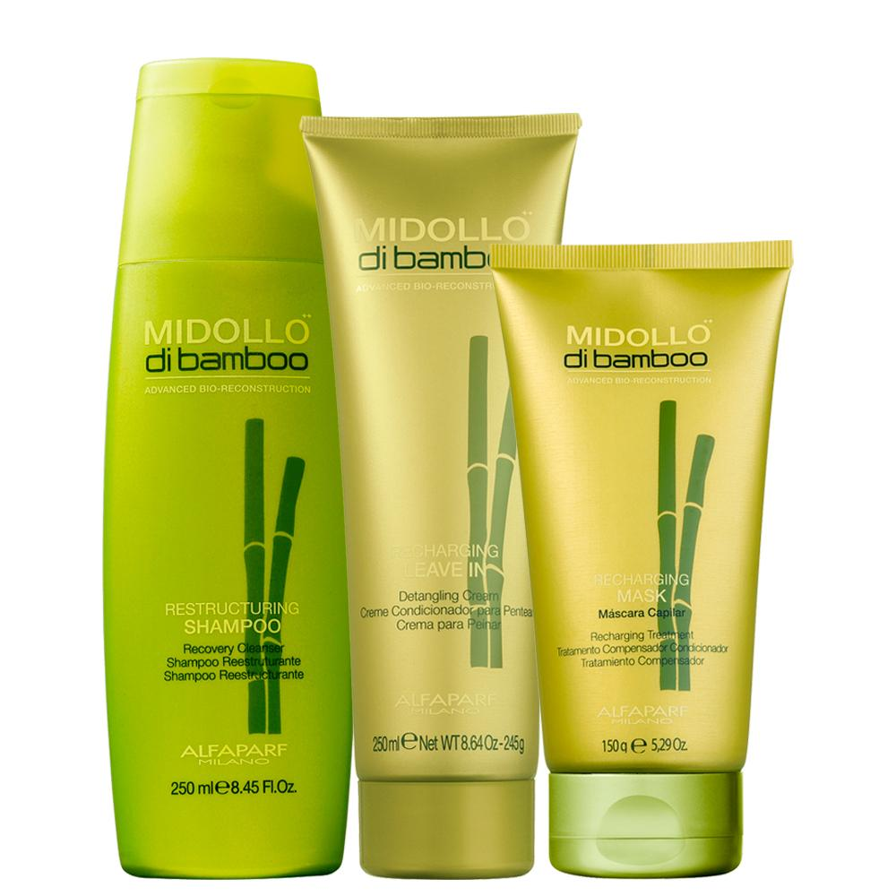 Alfaparf Midollo Di Bamboo Daily Care Kit with Hair