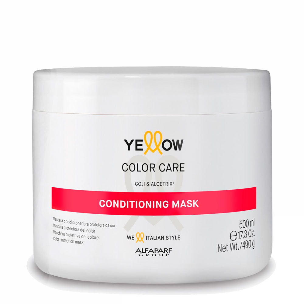 Alfaparf Yellow Color Care Conditioning Mask Protetor da Cor Goji e Aloetrix 500ml/17.3fl.oz