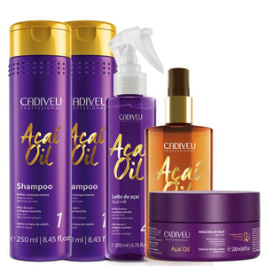 Açai Cadiveu Complete Kit with 2un Shampoo Repair and Hydration - 5Un