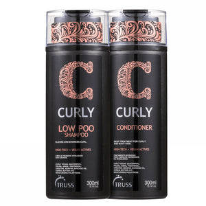 Truss Curly Low Poo Duo Kit Shampooing et revitalisant