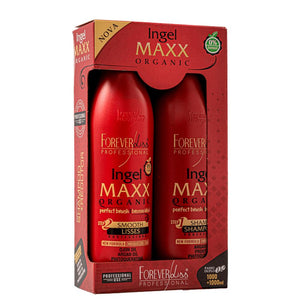 Kit Forever Liss hair straightening Ingel Maxx Bio Professionnel