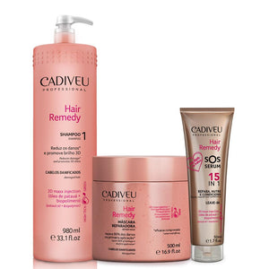 Cadiveu Hair Remedy Shampoo + Mask + Sos Serum 50 ml