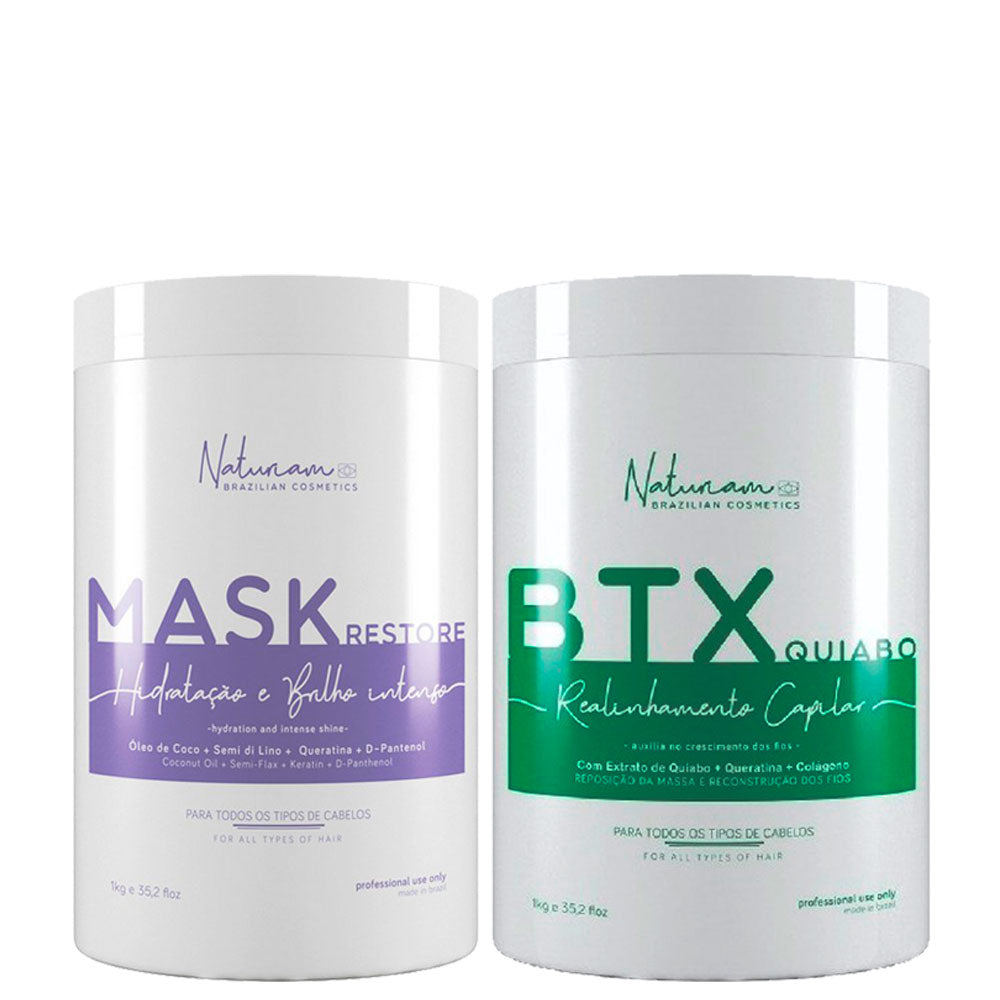 Naturiam Kit Btx Without Formalin + Restore Mask Hydration and Intense Brightness