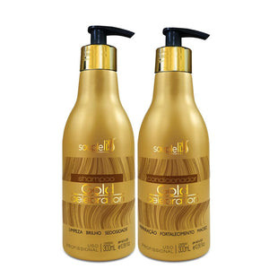SoupleLiss Gold Celebration Shampoo and Conditioner 300ml