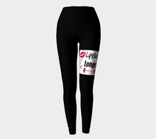 Load image into Gallery viewer, Lipstick & Lunges Leggings (Black) #2