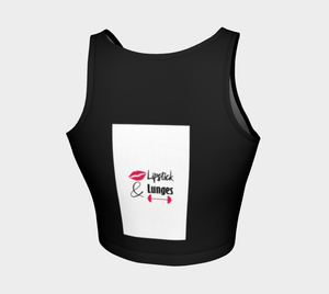 Lipstick & Lunges Crop Top (Black)