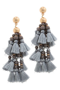 Designer Tassel Drop  (3 Colors)