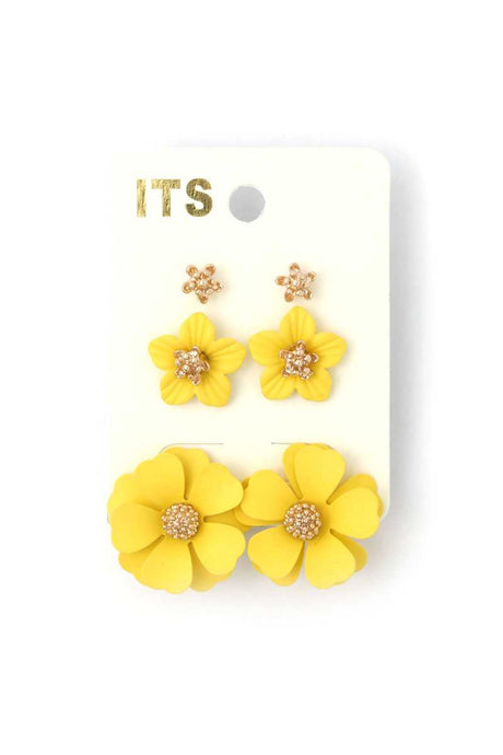 Flower Stud Earring Set (9 Colors0