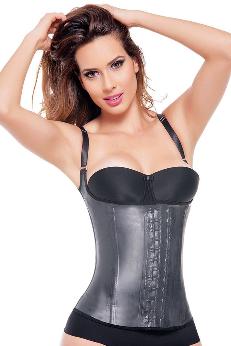 Black Latex Correct Posture Waist Trainer