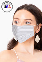 Load image into Gallery viewer, White Fashionable, Cool Breathable Fabric Face Mask