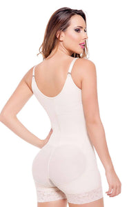 Nude, Straight Back Style Controls Abdomen And Waist