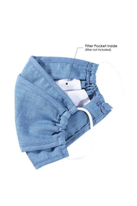 Denim 3d Reusable Face Mask