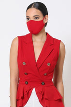 Load image into Gallery viewer, Red 3d Fashion Reusable Face Mask