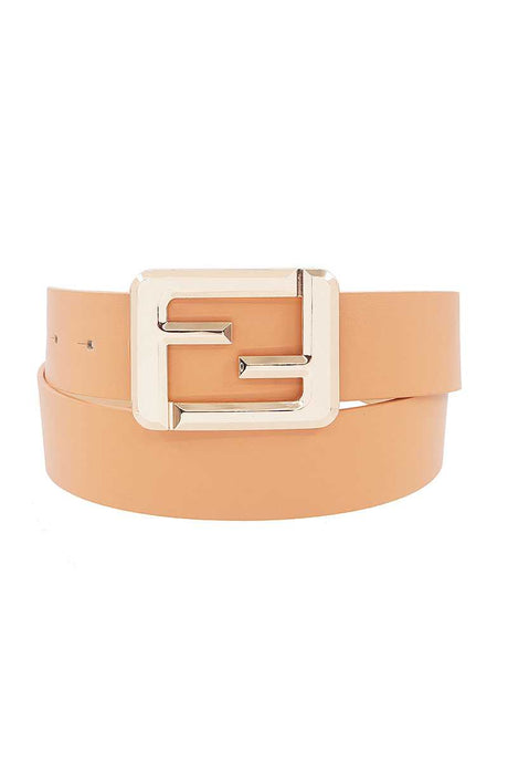 Fashion Square Letter Buckle Belt (7 Colors)