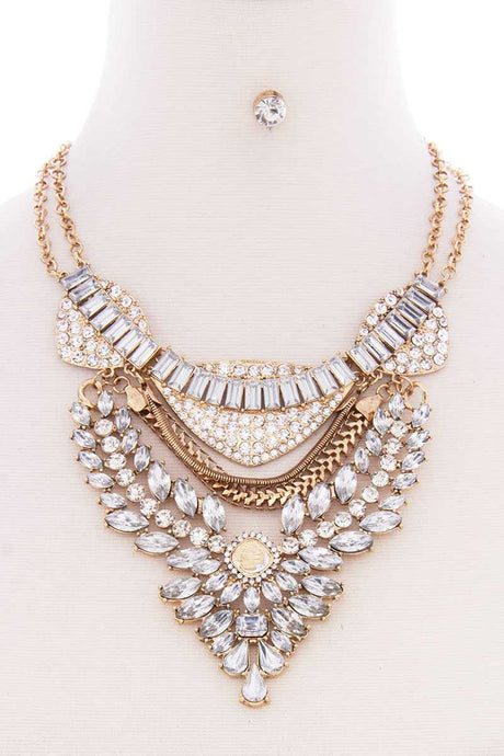 Bohemian Statement Necklace & Earring Set (2 Colors)