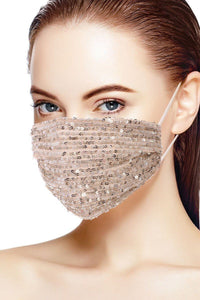 Nude 3d Sequin Nude Fashion Facemask