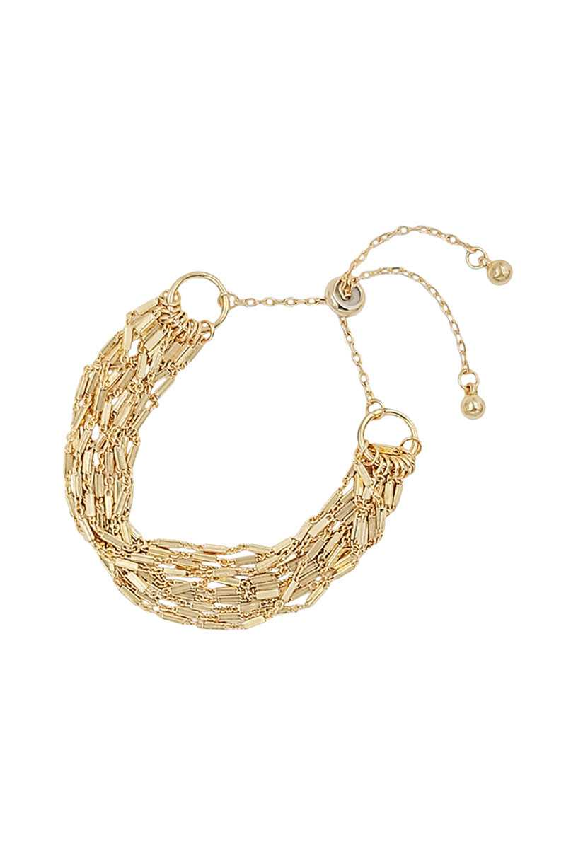 Multi Metal Chain Adjust Bracelet