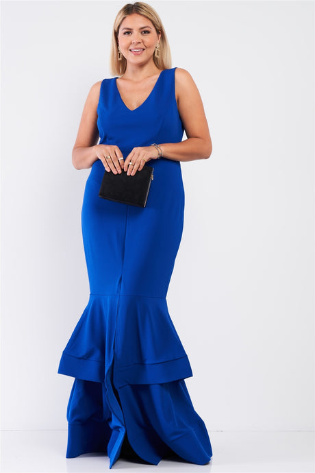 Royal Front Slip Mermaid Dress