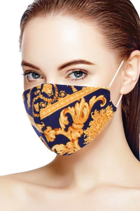 Blue/Yellow 3d Reusable Water Resistant Face Mask