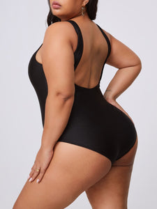 Thick Thighs Saves Lives Plus Size One-piece Swimsuit (2 Colors)