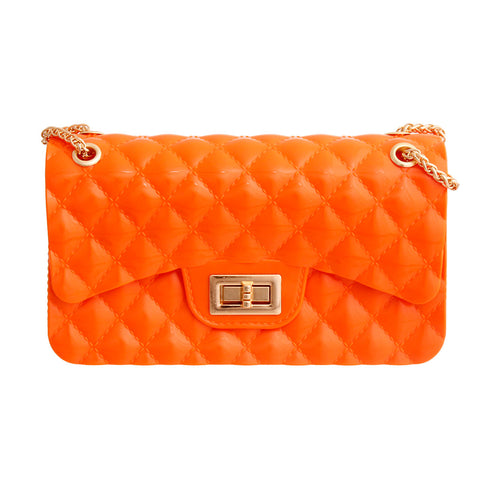 Shiny Orange Quilted Jelly Bag