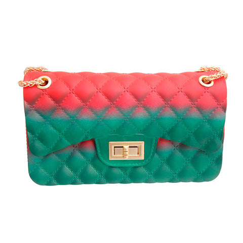 Red and Green Quilted Jelly Bag