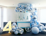 Party Balloon Garland Kit - Blue + Silver