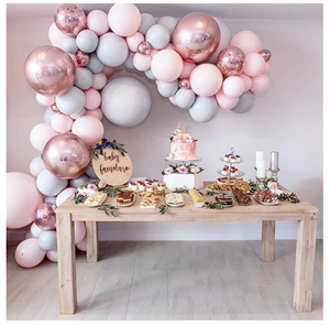 Party Balloon Garland Kit - Rose Gold + Pink