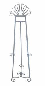 HIRE of White Metal Ornate Easel - $50 Weekend Hire - Silver Belle Design