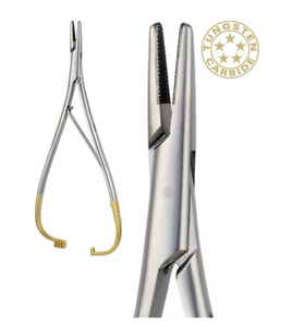 Mathieu Needle Holder with Tungsten Carbide Inserts, straight - 14cm