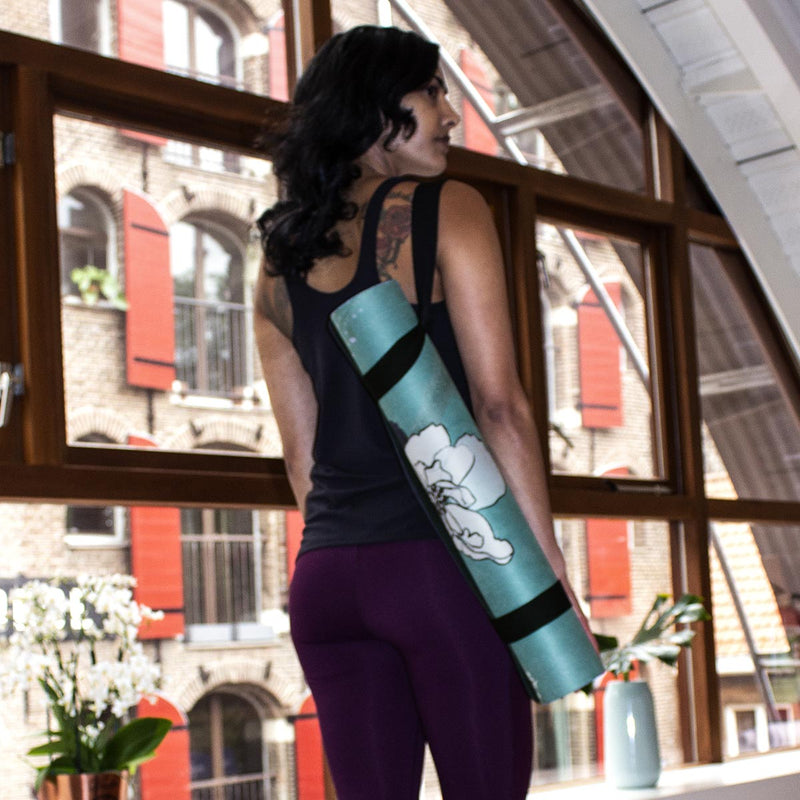 Felicidade yogamat with carrying strap