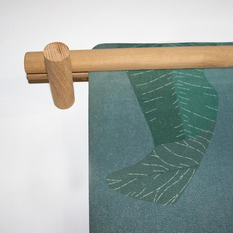 Oak yoga mat hanger