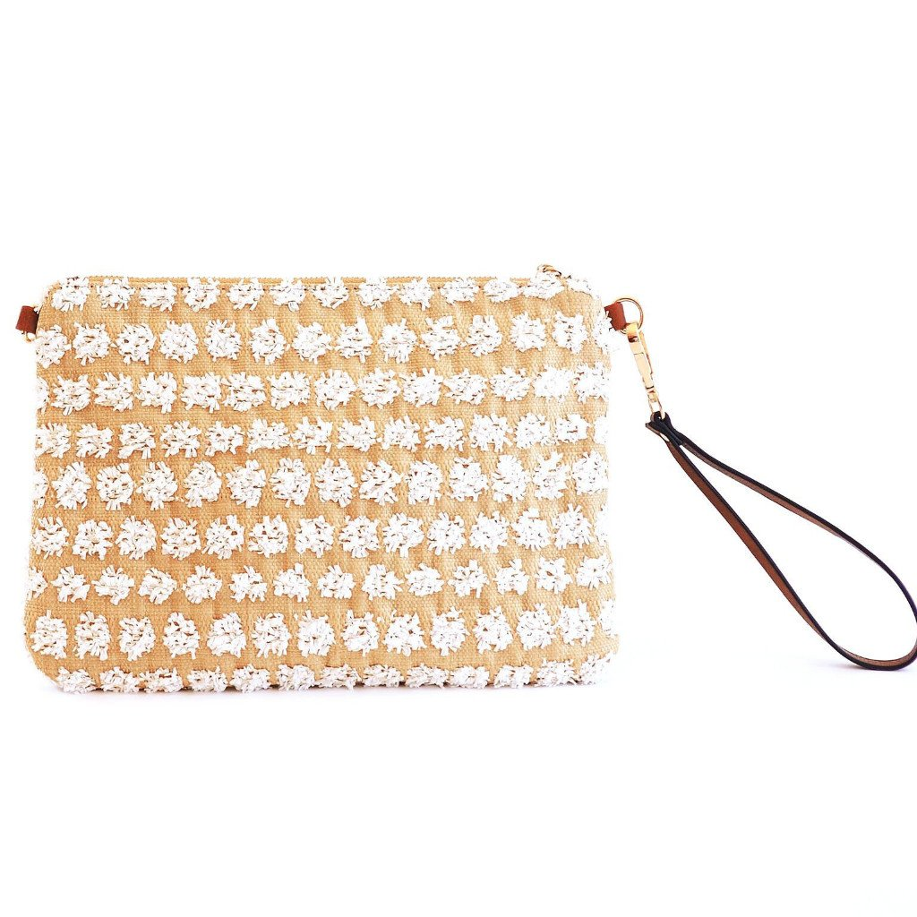 POPPY -  White Crossbody and Wristlet -  SOLD OUT - Aura & Fleur