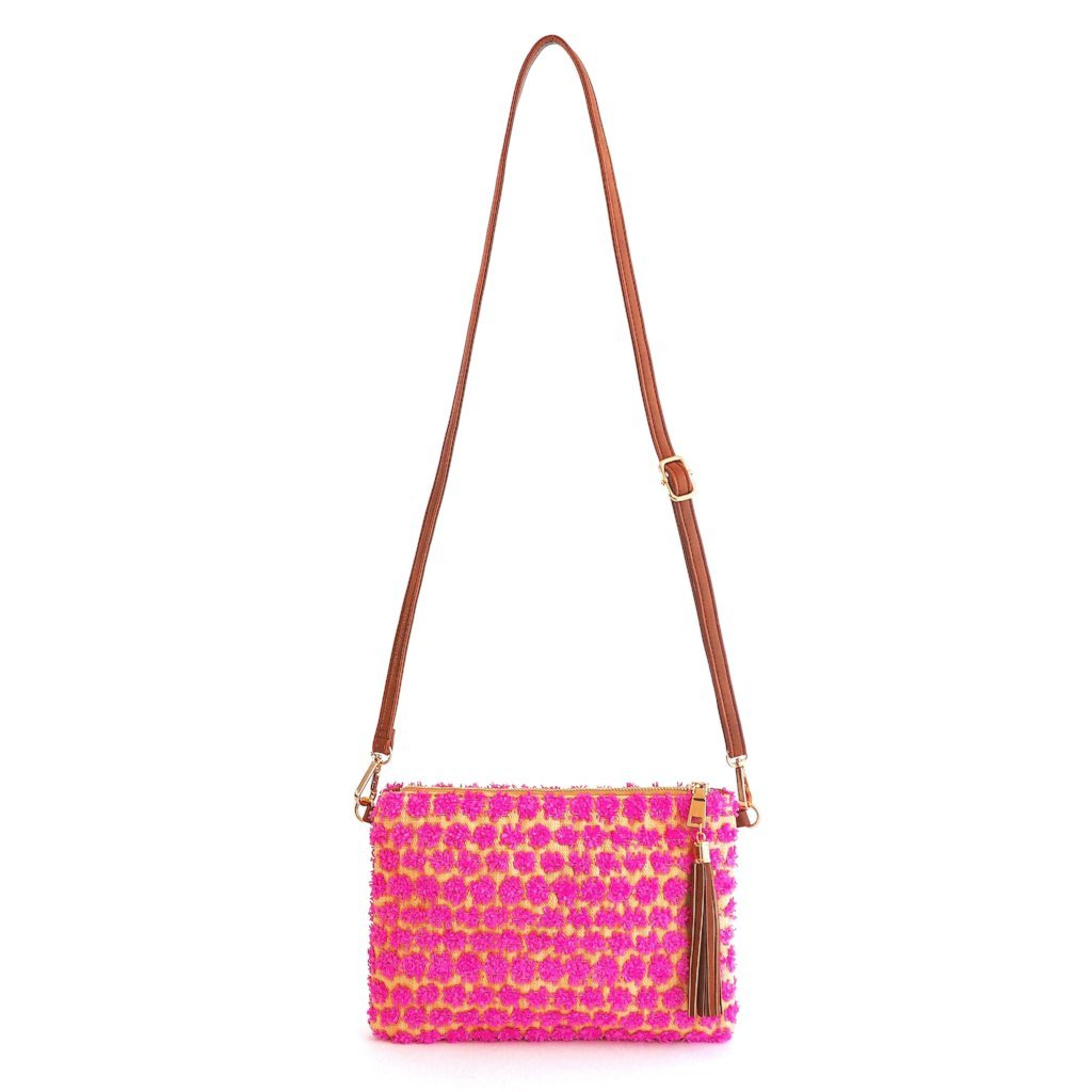 POPPY - Pink Cross Body and Wristlet - FEW LEFT - Aura & Fleur